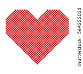 red hearts with halftone effect ... | Shutterstock .eps vector #564322021