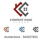 Stock vector real estate property and construction logo design for business corporate sign vector logo 564327601