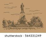 a monument to admiral nakhimov...   Shutterstock .eps vector #564331249