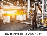 service engineer working at... | Shutterstock . vector #564334759