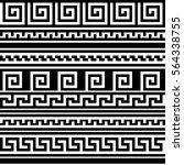 black and white geometric greek ... | Shutterstock .eps vector #564338755