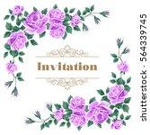 bridal shower  wedding... | Shutterstock .eps vector #564339745