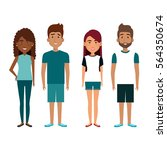 persons group avatars characters | Shutterstock .eps vector #564350674