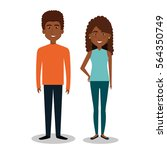 persons group avatars characters | Shutterstock .eps vector #564350749