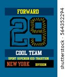 new york cool team division t... | Shutterstock .eps vector #564352294