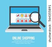 online shopping illustration | Shutterstock .eps vector #564355891