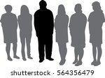 leader   a large group of man   ... | Shutterstock .eps vector #564356479