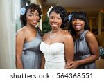 bride and bridesmaids. | Shutterstock . vector #564368551