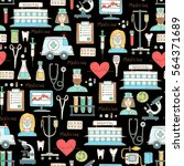vector seamless pattern with...   Shutterstock .eps vector #564371689