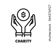 charity icon or logo in modern... | Shutterstock .eps vector #564376927