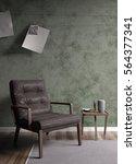 modern bright interior . 3d... | Shutterstock . vector #564377341