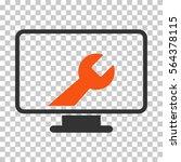 orange and gray desktop options ... | Shutterstock .eps vector #564378115