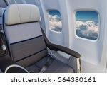 passenger plane interior... | Shutterstock . vector #564380161