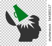 green and gray open brain... | Shutterstock .eps vector #564385117