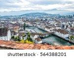 view of lucerne  switzerland   Shutterstock . vector #564388201