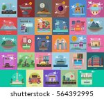 travel conceptual design | Shutterstock .eps vector #564392995