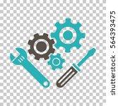 grey and cyan mechanics tools... | Shutterstock .eps vector #564393475