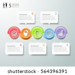 abstract 3d infographic 5... | Shutterstock .eps vector #564396391