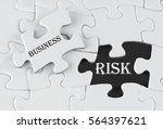 white puzzle with void in the...   Shutterstock . vector #564397621