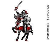 knight riding horse fleur de... | Shutterstock .eps vector #564402439