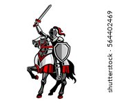 knight riding horse | Shutterstock .eps vector #564402469