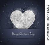 vector happy valentine's day... | Shutterstock .eps vector #564415219