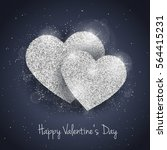 vector happy valentine's day... | Shutterstock .eps vector #564415231