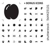 peach icon illustration... | Shutterstock .eps vector #564425131