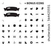 sausage icon illustration... | Shutterstock .eps vector #564425551