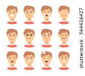 set of male emoji characters.... | Shutterstock .eps vector #564426427