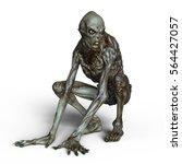 3d cg rendering of a monster | Shutterstock . vector #564427057