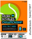 mixed doubles championship ... | Shutterstock .eps vector #564427897