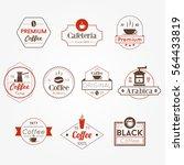 cafe shop vintage coffee vector ... | Shutterstock .eps vector #564433819