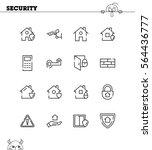 security flat icon set....   Shutterstock .eps vector #564436777