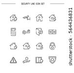 security flat icon set.... | Shutterstock .eps vector #564436831