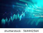 financial stock market graph on ... | Shutterstock . vector #564442564