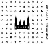 castle icon illustration... | Shutterstock .eps vector #564443185