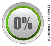 zero percent button   Shutterstock .eps vector #564449695