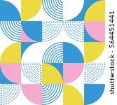 graphic circles seamless... | Shutterstock .eps vector #564451441