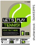 let's play tennis  flat style...   Shutterstock .eps vector #564453991
