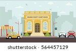 court house building | Shutterstock . vector #564457129