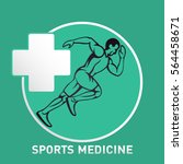 sports medicine logo icon... | Shutterstock .eps vector #564458671