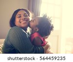 african descent family house... | Shutterstock . vector #564459235