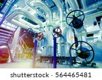 equipment  cables and piping as ... | Shutterstock . vector #564465481