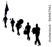 marching band silhouette | Shutterstock .eps vector #564467461