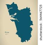modern map   goa in india...   Shutterstock . vector #564467725