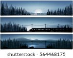 horizontal banners with the... | Shutterstock .eps vector #564468175