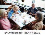 group of elderly people sitting ... | Shutterstock . vector #564471631