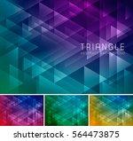 triangular abstract background. ... | Shutterstock .eps vector #564473875