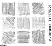 doodles set. scribble... | Shutterstock .eps vector #564475309